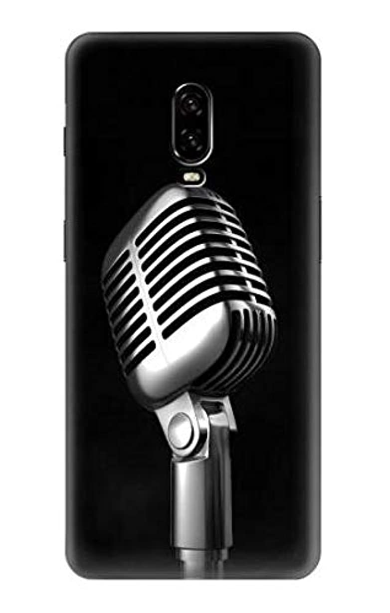 規定元のファシズムJP1672O6T レトロ マイク ジャズ音楽 Retro Microphone Jazz Music OnePlus 6T ケース