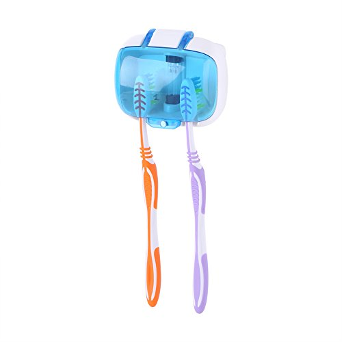歯ブラシ除菌器 紫外線消毒歯ブラシケース UV除菌機 壁掛け...
