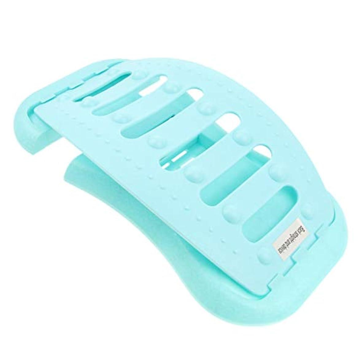 落花生かもしれない司書調節可能 バック ストレッチャー 背中 ストレッチャー ストレッチ装置 耐久性ある 全2色 - 青