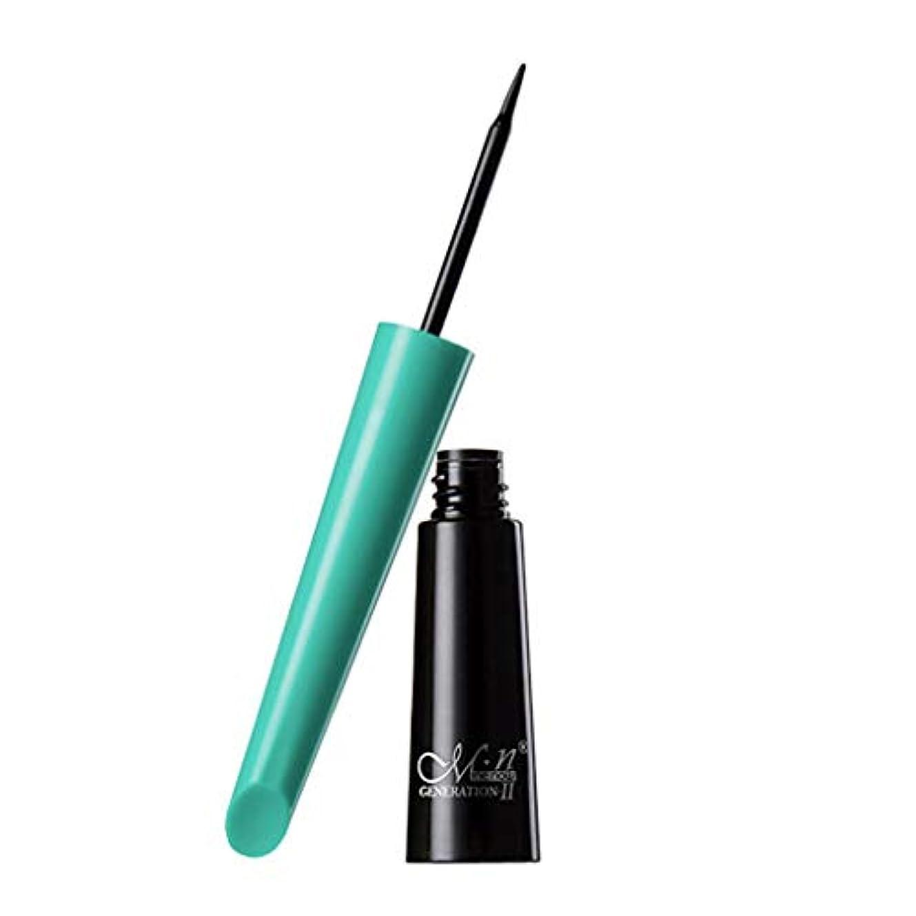 しっかり悩む物語女性Menow防水美容メイクアップ化粧品ブラックリキッドアイライナーペン