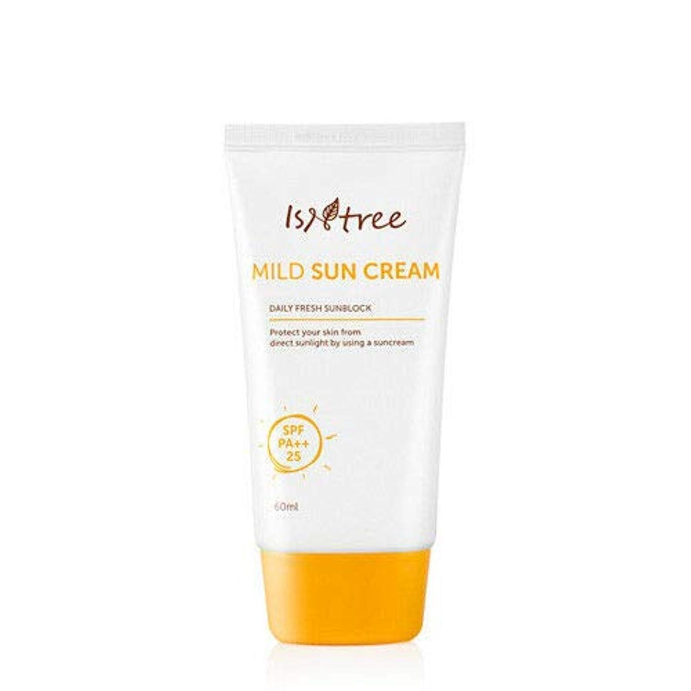 の間で気をつけて名詞ISNTREE マイルドサンクリーム (60ml) SPF25 /PA ++ Mild Sun Cream 韓国 日焼け止め IS&TREE