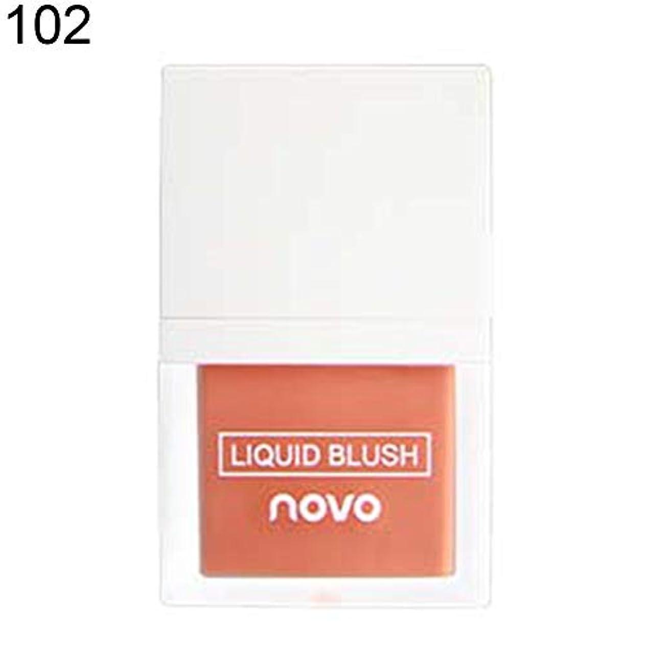 信者コード従事したNOVO輝く長続きがする液体赤面保湿ナチュラルフェイス輪郭メイク - 2