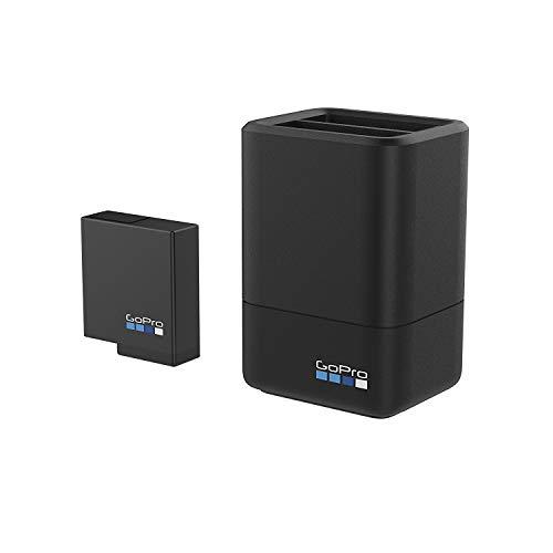 『【国内正規品】 GoPro ウェアラブルカメラ用充電器 デュアル バッテリー チャージャー + バッテリー HERO5 Black HERO6 対応 AADBD-001-AS』のトップ画像