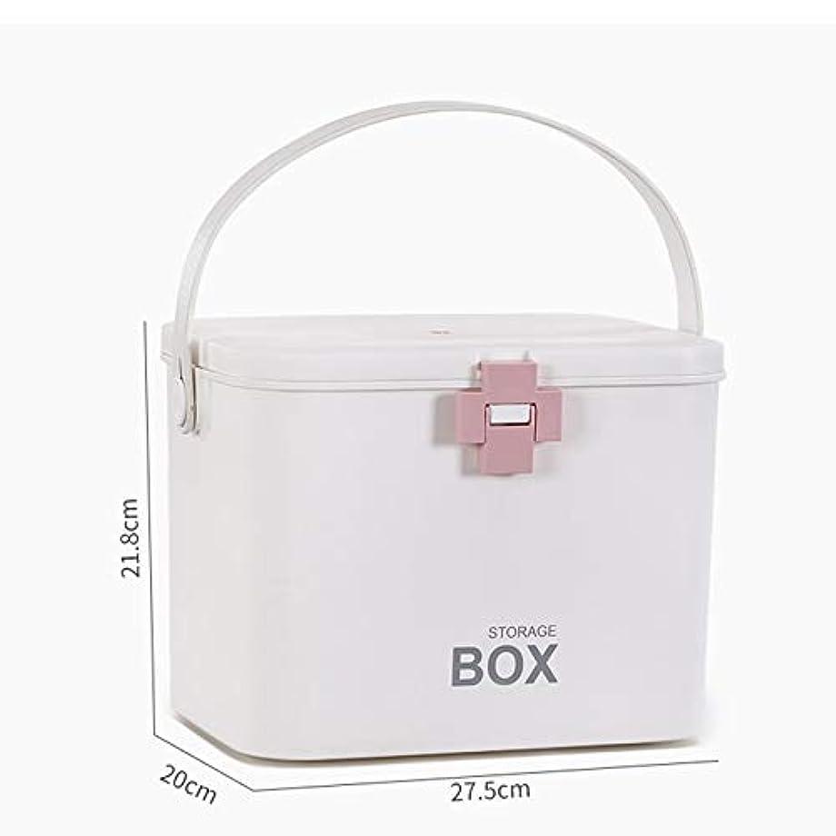 マント誓う講師緊急用バッグ 特大医療キットポータブル救急箱家庭用薬収納ボックス旅行と職場医療用収納キット(ピンク、グリーン) HMMSP (Color : Pink)
