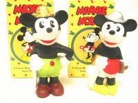 ミッキー&ミニー 日本製ビスクフィギュア復刻版 ミディアムサイズ 2点セット ディズニー フィギュアリン