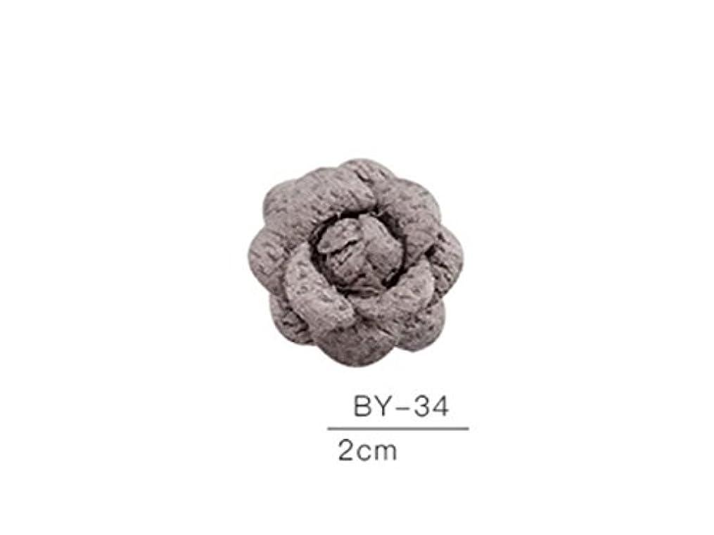 航海浸透する構築するOsize カラフルネイルアート樹脂布カメリアネイルジュエリーファブリックネイルアートデコレーションネイルステッカー(グレー)