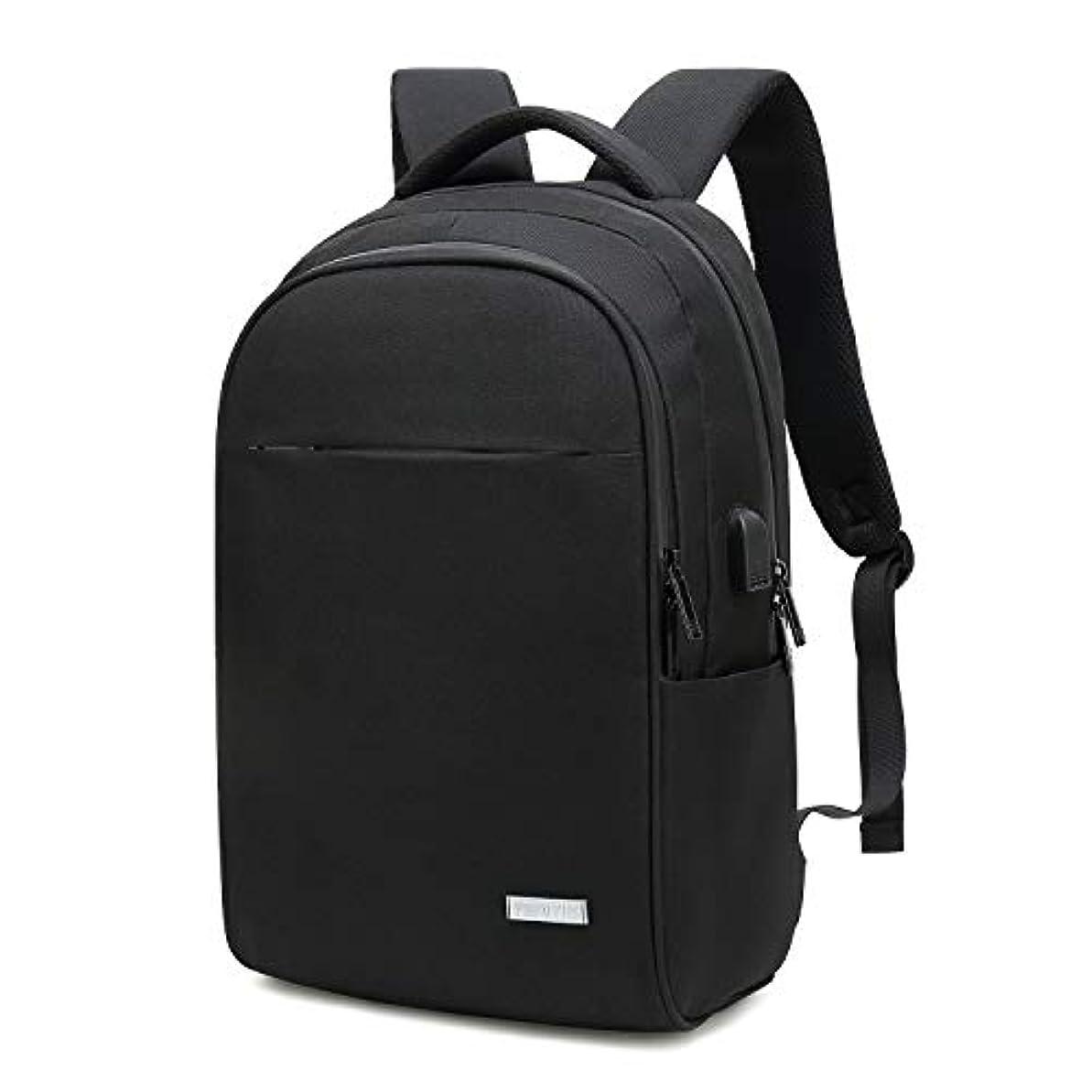 さわやか噂論文[プロミス] リュック メンズ バッグ 大容量なのにコンパクト 撥水加工 防犯ポケット USBポート付き