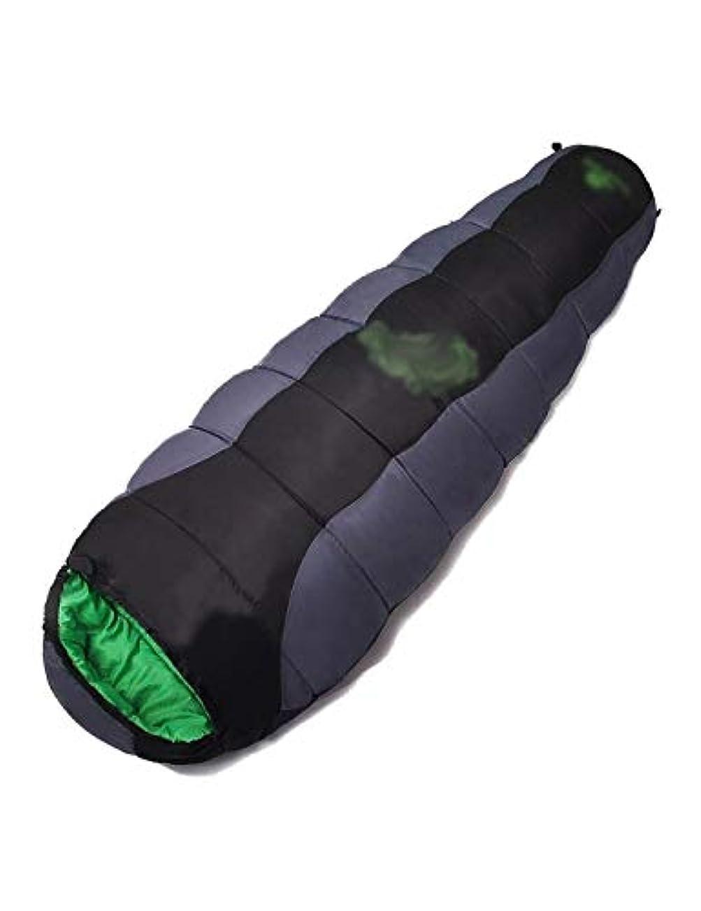 より多い適合する階下寝袋、防水性と耐裂性の多機能ミイラ寝袋、屋外登山特別なキャンプミイラ寝袋 (Color : Gray)
