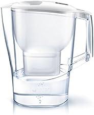 BRITA 碧然德 凈水器 水壺 凈水部分容量:2.0升(全容量:3.5升) Aluna XL McStror Plus 附帶1個濾芯 【日本正規品】 白色 氯 水垢 不純物 去除