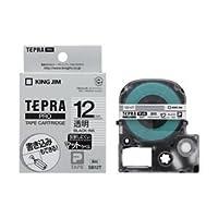 (業務用セット) 「テプラ」PROシリーズテープ マットラベル 透明に黒文字 12mm 【×5セット】 dS-1642785