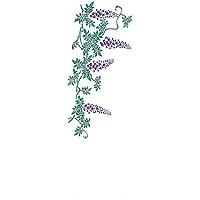 踊り衣裳 注染 長尺手拭 い印 紫?緑×白 藤 てぬぐい メンズ レディース