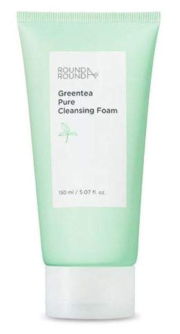 シンクゾーンなめらか[ROUND A ROUND] Greentea Pure Cleansing Foam 150ml / グリーンティー弱酸性クレンジングフォーム150ml [並行輸入品]