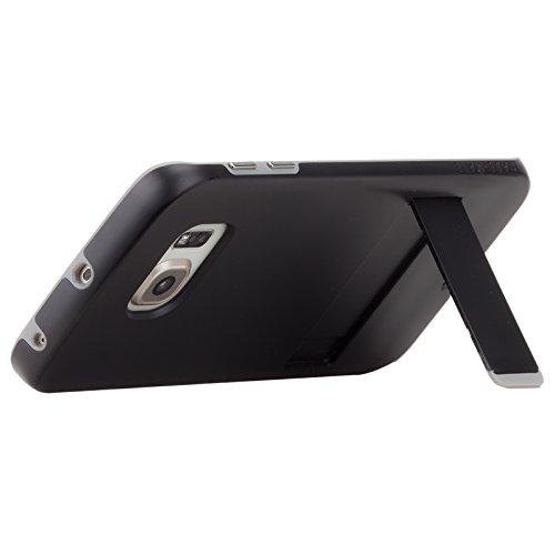 【耐衝撃タフネス】 Case-Mate 日本正規品 Galaxy S6 edge docomo SC-04G / au SCV31 Hybrid Tough Stand Case, Black / Titanium ハイブリッド タフ スタンド ケース 【デュアルレイヤー】 CM032576