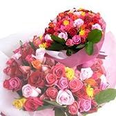 シックなボルドーミックスのバラブーケ(花束)お好きな本数が選べます。【生花】【お祝い・記念日・誕生日・フラワーギフト・バラ】
