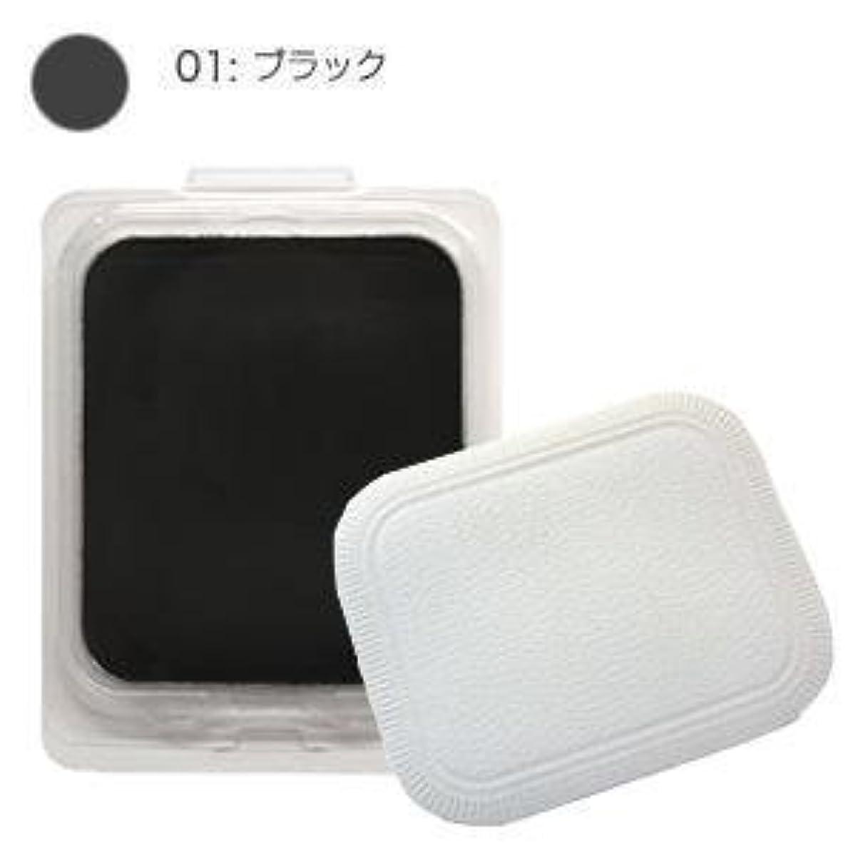 廃止寝具白内障モナリザ ヘアケアファンデーション つめかえ用 (ブラック) 12g(パフ付)