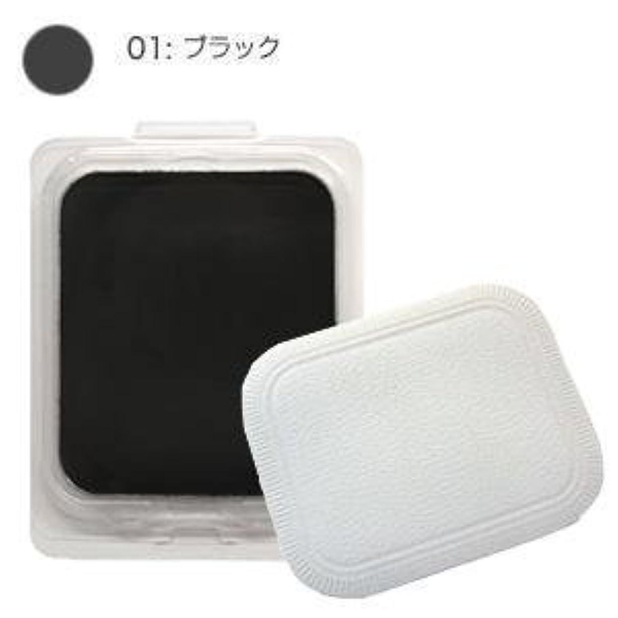 させる振りかける配管モナリザ ヘアケアファンデーション つめかえ用 (ブラック) 12g(パフ付)