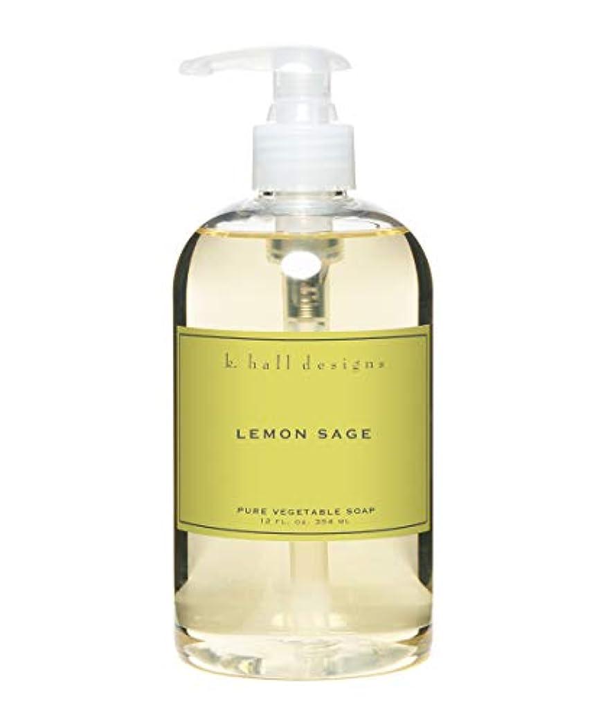 死すべき抵抗する膨らみk.hall designs/リキッドソープ レモンセージ