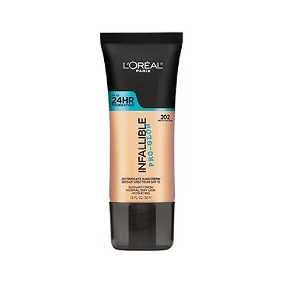 ドキドキソロ完全に乾く(3 Pack) L'OREAL Infallible Pro-Glow Foundation - Creamy Natural (並行輸入品)