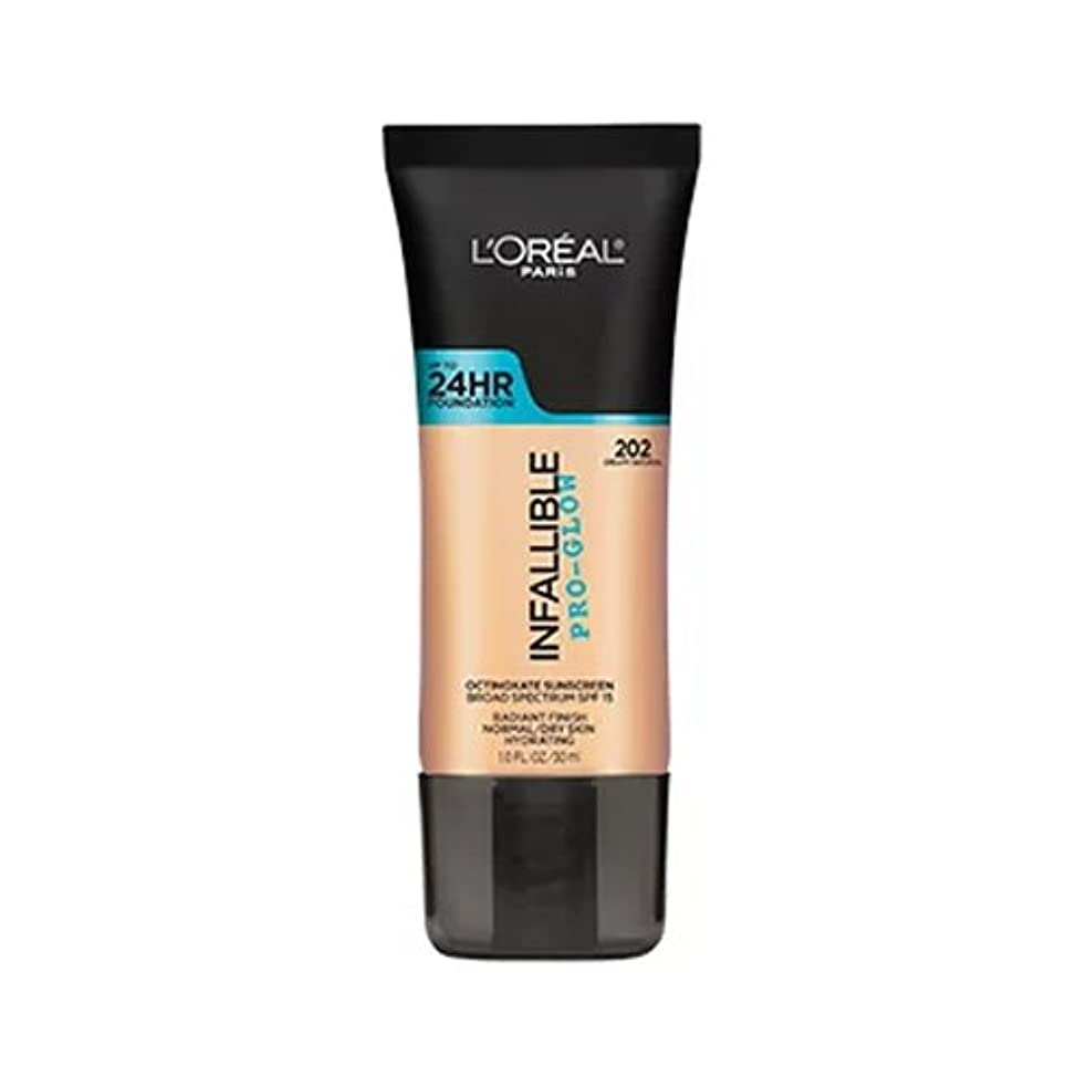 家家連合(3 Pack) L'OREAL Infallible Pro-Glow Foundation - Creamy Natural (並行輸入品)