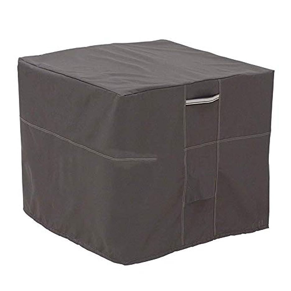 ぜいたくゲートよろしく36-dianyejiancai 屋外テント屋外エアコンアウターフードバルコニー防塵雨カバースクエアタイプ (Color : ブラック)
