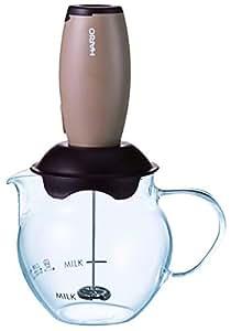 HARIO (ハリオ) ミルク 泡だて器 クリーマー・キュート ブラウン CQT-45BR