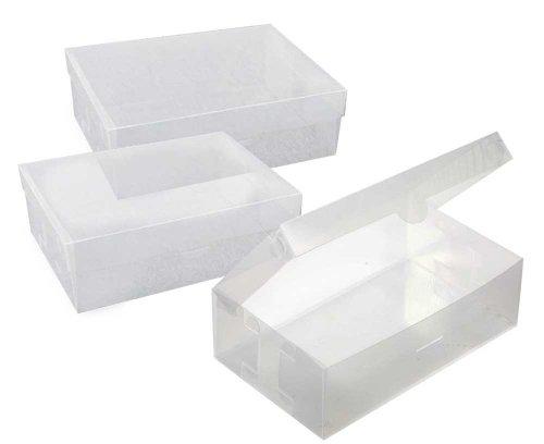 富士パックス くつ収納クリアボックス 3コ入