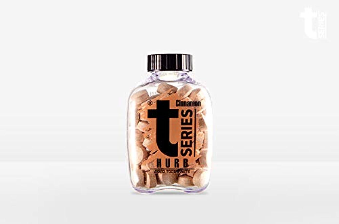 T - シリーズチュアブル ポータブル練り歯磨きソリッドタブレット型60タブ # ハーブシナモン