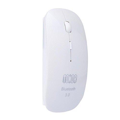 Tonor Bluetooth 3.0ワイヤレスマウス 無線光学式 薄い 省電力設計 800/1200/1600dpi ホワイト