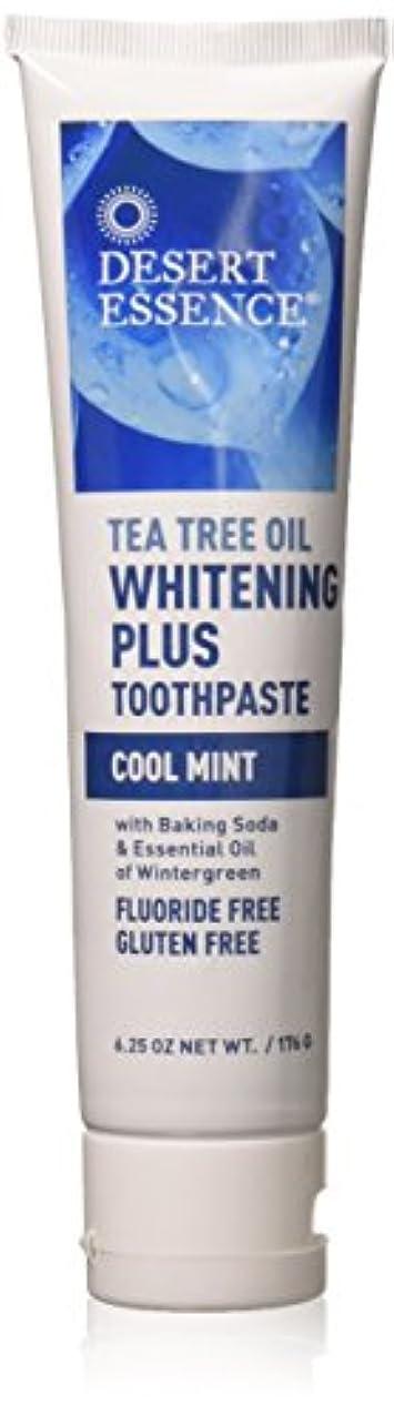 ティーツリーオイル ホワイトニング フッ素なし歯磨き粉 177g/6.25oz [海外直送品]