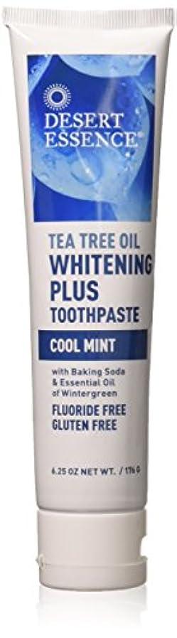 マングル批判的繁雑ティーツリーオイル ホワイトニング フッ素なし歯磨き粉 177g/6.25oz [海外直送品]