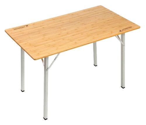 キャプテンスタッグ アルバーロ竹製フォールディングテーブル