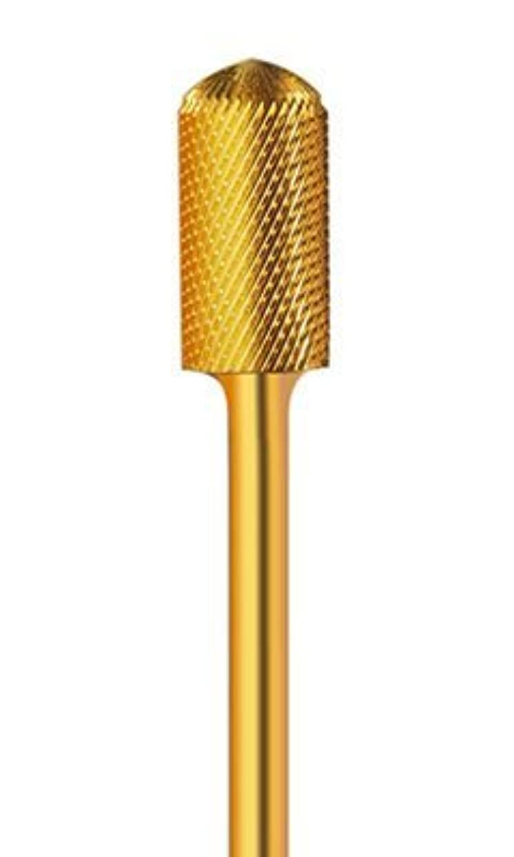 値兄大惨事ネイルマシーン用アタッチメントビット バレル ゴールド  ジェル、アクリルを削るのに最適です