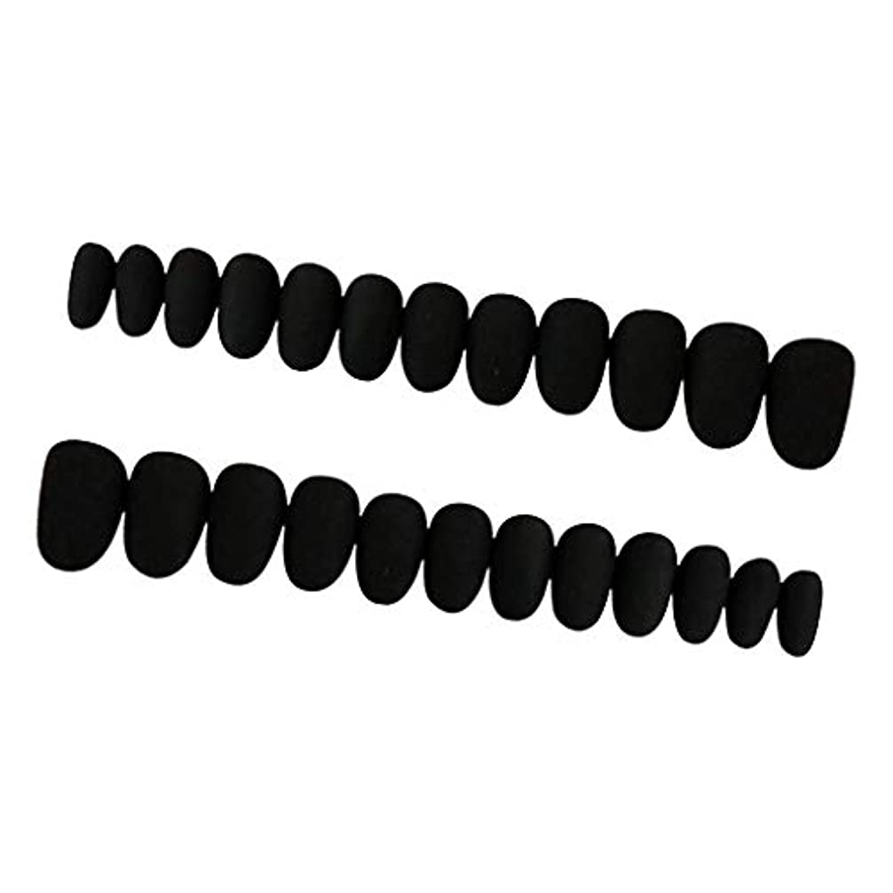 レスリング疑い者サイレンPerfeclan 約24枚 ネイルシール ネイルアート ネイルラップ ネイルステッカー 貼るだけ ネイル装飾 全3色 - ブラック