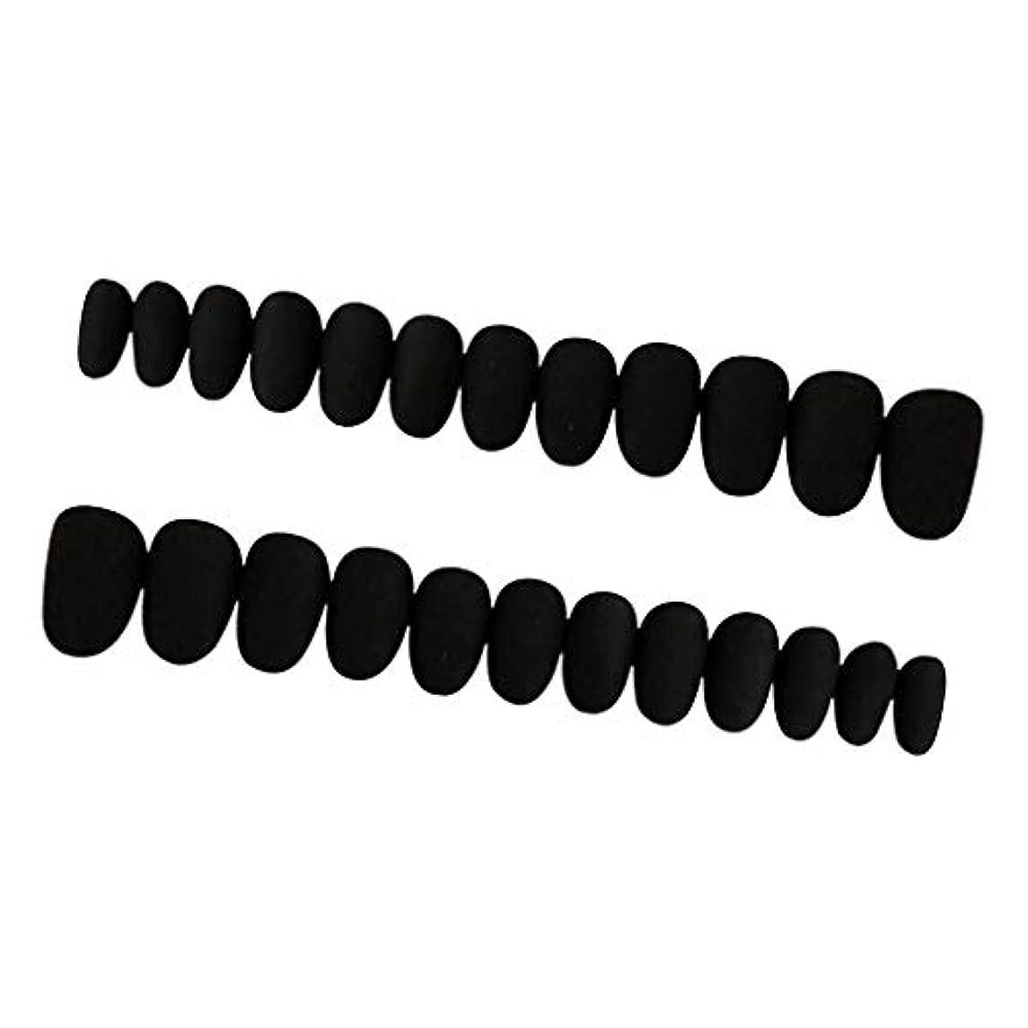 鉛筆専門用語アンデス山脈Perfeclan 約24枚 ネイルシール ネイルアート ネイルラップ ネイルステッカー 貼るだけ ネイル装飾 全3色 - ブラック