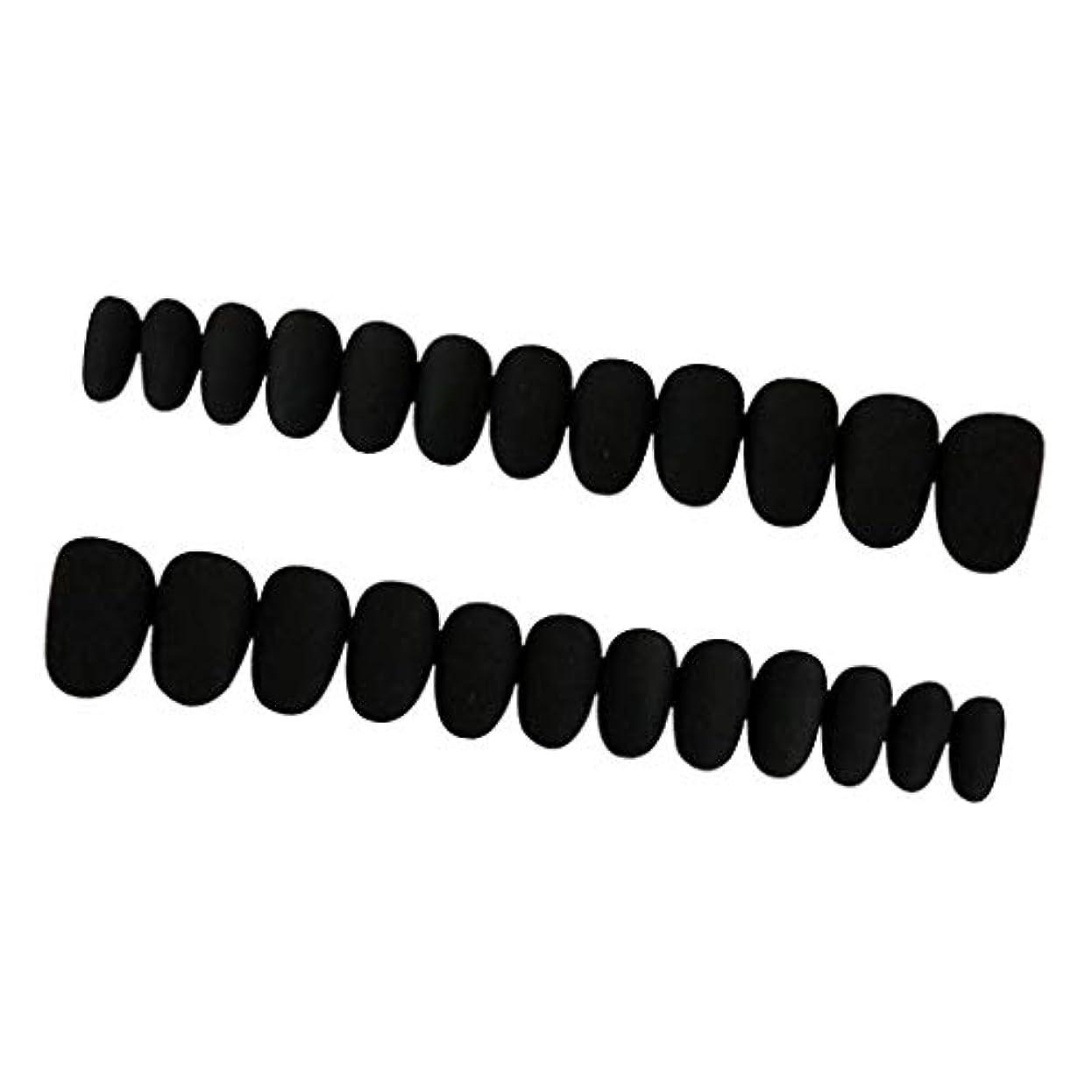 文言周り昼食Perfeclan 約24枚 ネイルシール ネイルアート ネイルラップ ネイルステッカー 貼るだけ ネイル装飾 全3色 - ブラック