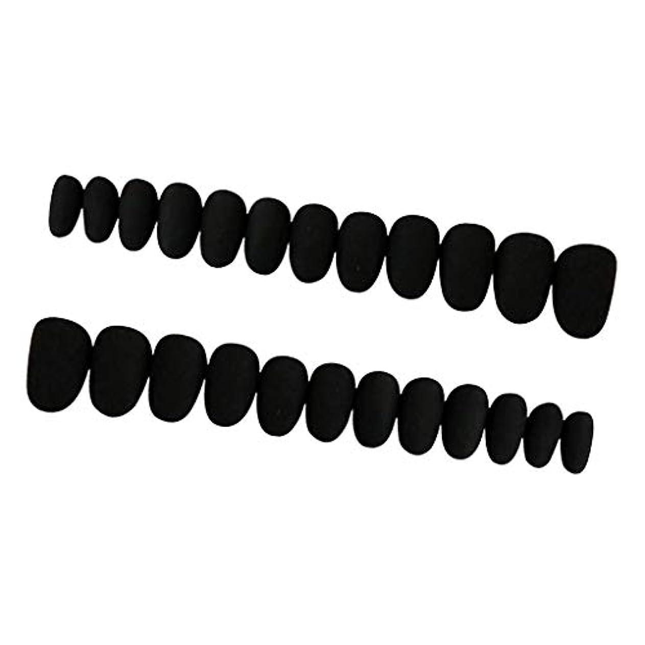 虫検査暗くするPerfeclan 約24枚 ネイルシール ネイルアート ネイルラップ ネイルステッカー 貼るだけ ネイル装飾 全3色 - ブラック