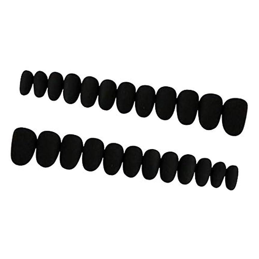 セージナイロンわずらわしい約24枚 ネイルシール ネイルアート ネイルラップ ネイルステッカー 貼るだけ ネイル装飾 全3色 - ブラック
