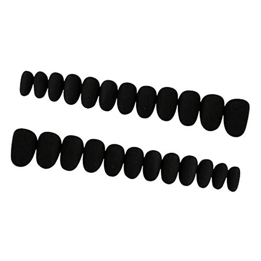 力強いブース槍約24枚 ネイルシール ネイルアート ネイルラップ ネイルステッカー 貼るだけ ネイル装飾 全3色 - ブラック