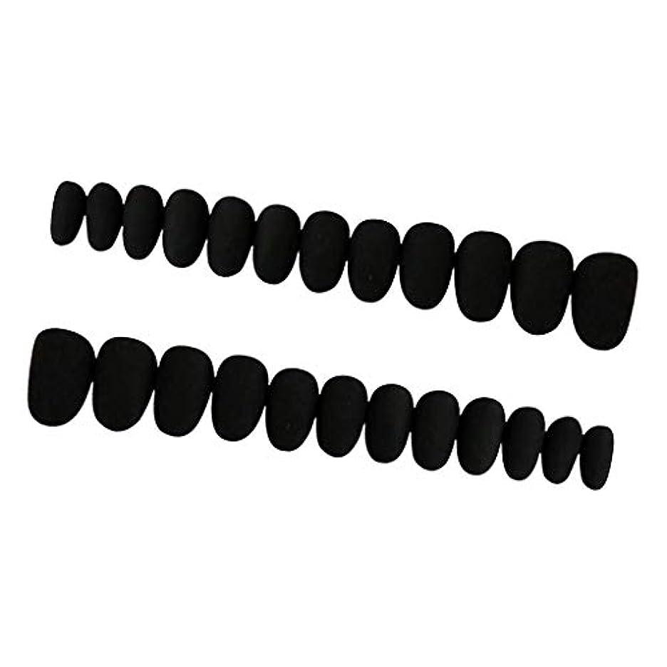 一口怒るトライアスロンPerfeclan 約24枚 ネイルシール ネイルアート ネイルラップ ネイルステッカー 貼るだけ ネイル装飾 全3色 - ブラック
