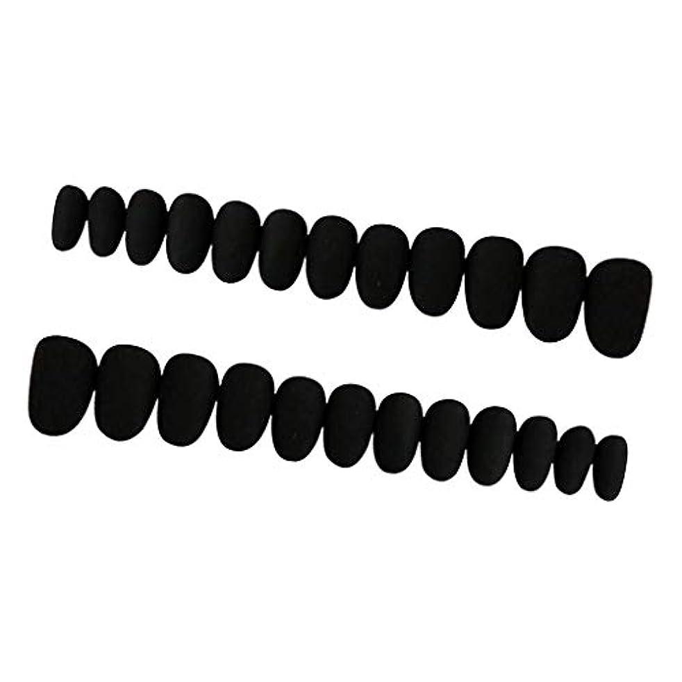 どうしたのマージ特異なPerfeclan 約24枚 ネイルシール ネイルアート ネイルラップ ネイルステッカー 貼るだけ ネイル装飾 全3色 - ブラック