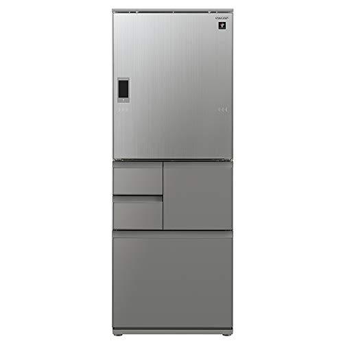 シャープ SHARP プラズマクラスター冷蔵庫(幅68.5cm) 551L ガラスドア/電動どっちもドア(両開き) メガフリーザー 5ドア エレガントシルバー SJ-WX55E-S