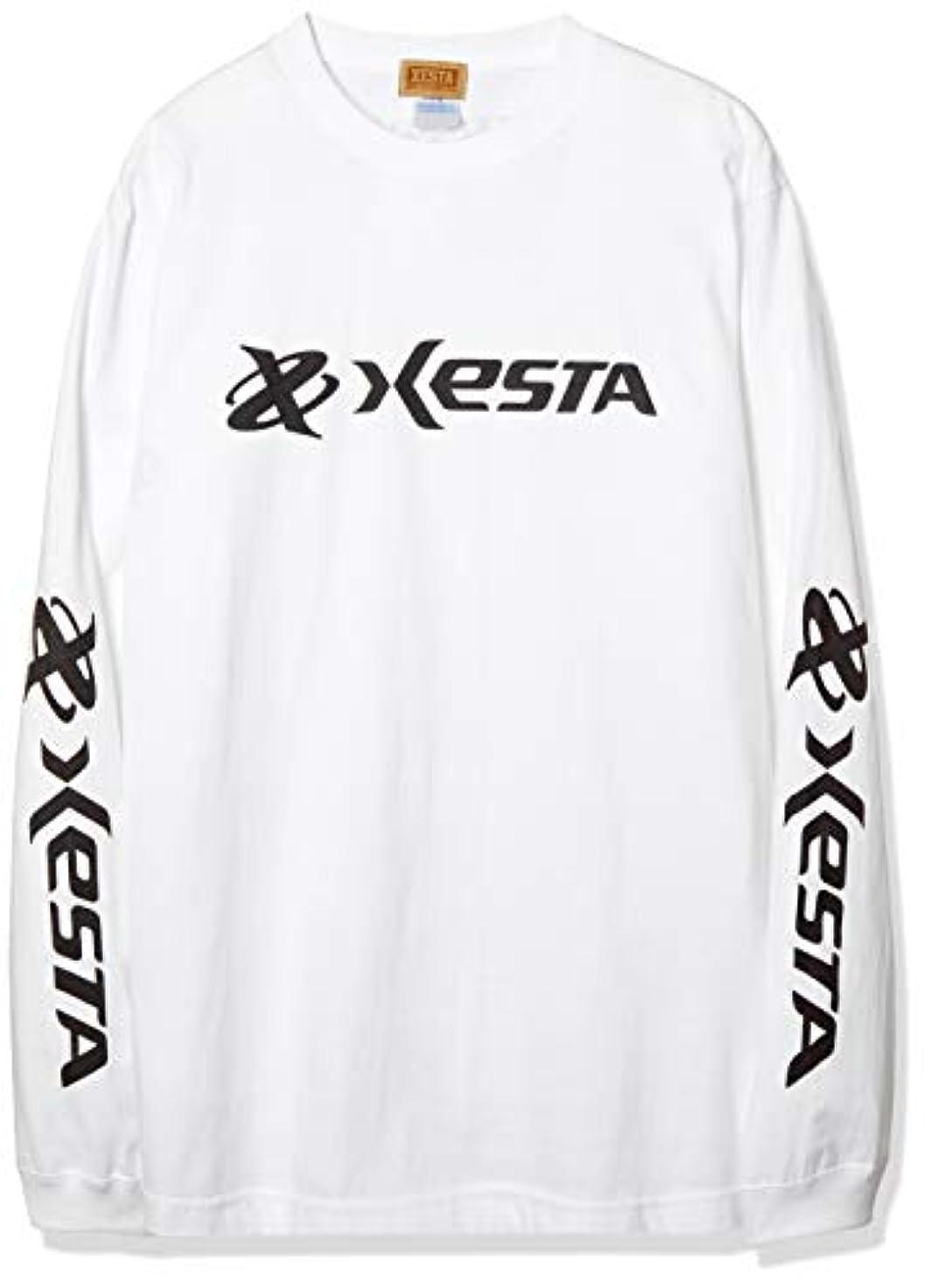 ゼスタ(XESTA) ロングスリーブ Tシャツ (オリジナルロゴ) ホワイト L