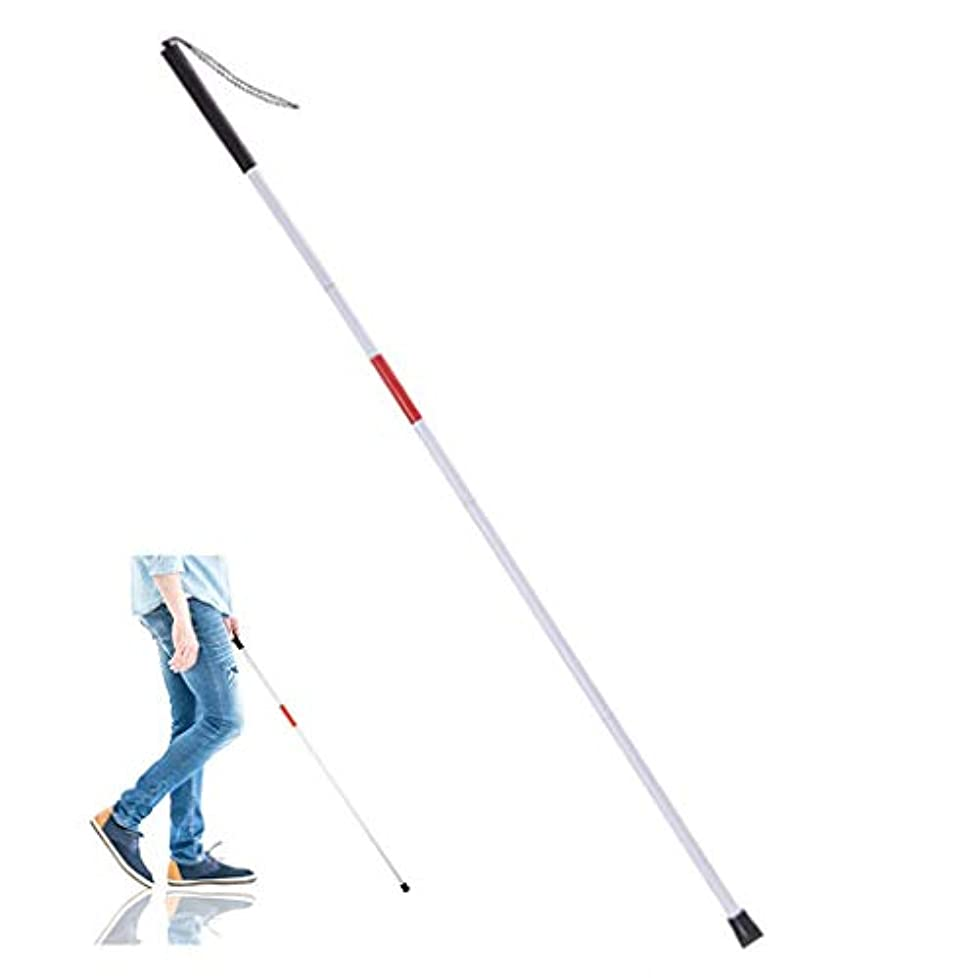 シャイニング正直注釈を付ける視覚障害者用視覚障害者用折りたたみ式杖、ブラインドステッキ、夜間反射型、折りたたみ式ブラインドガイドスティック、ブラインド杖(長さ:47.24in)