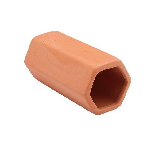 癒し水景素焼きの隠れ家六角土管