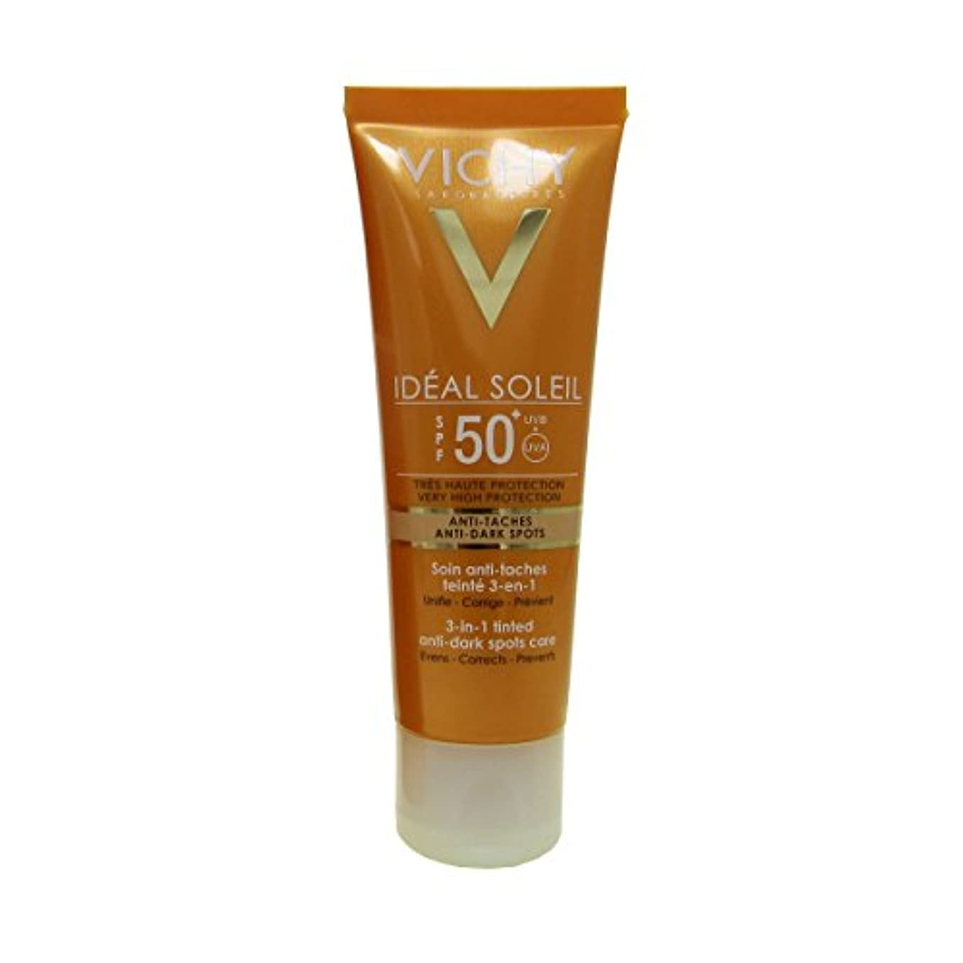 チラチラする紫のシャワーVichy Capital Soleil Ideal Soleil 3-in-1 Tinted Anti-dark Spots Care Spf50 50ml [並行輸入品]