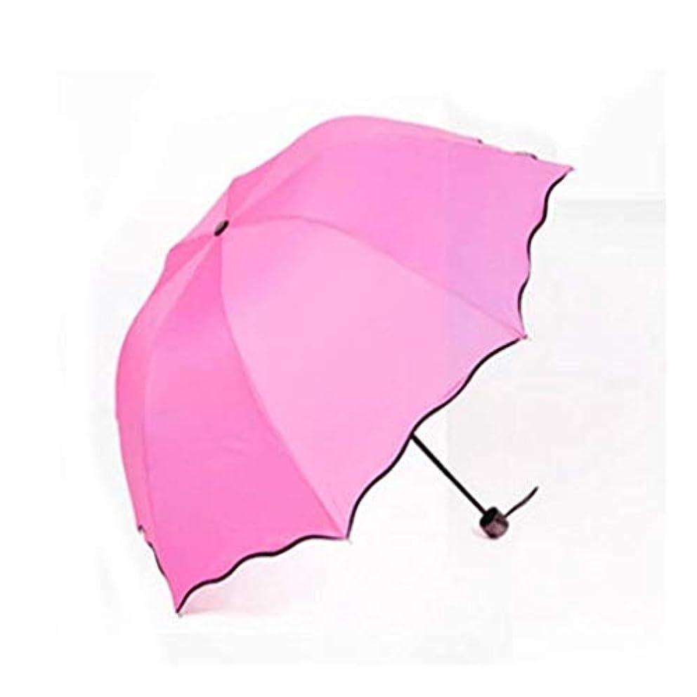 肺炎ネーピア局Chuangshengnet 水開花の傘が付いている紫外線日焼け止めに対する日傘 (Color : ピンク)