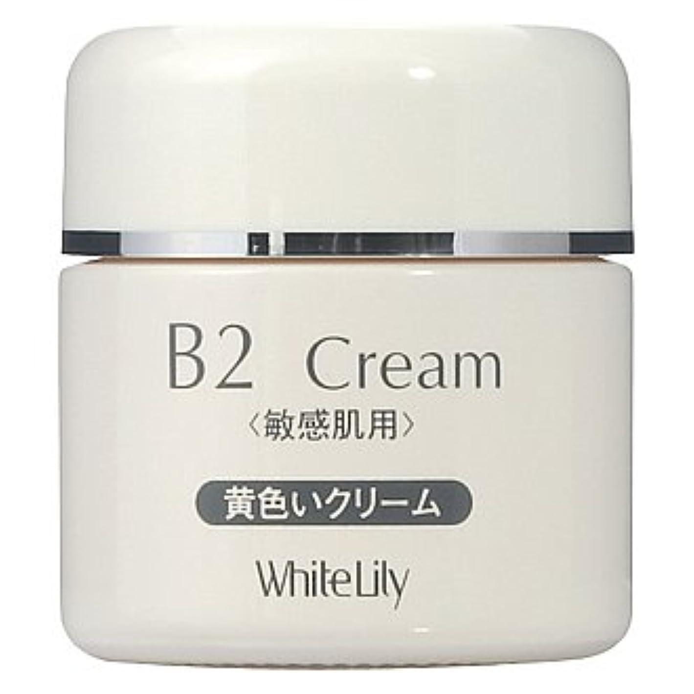 貫通する風邪をひく差ホワイトリリー B2クリーム ボトル40g クリーム