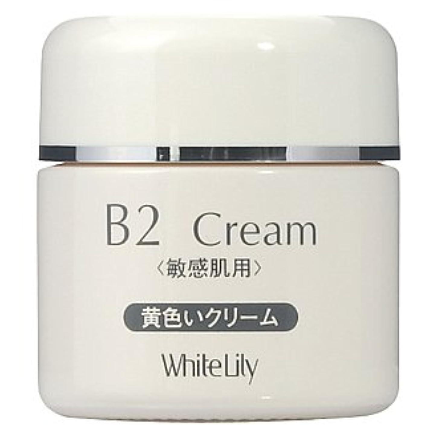 フィードバック海洋の気味の悪いホワイトリリー B2クリーム ボトル40g クリーム