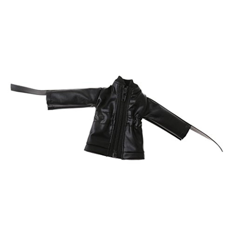 Perfk 1/6 BJDドルフィーMSD DOD DZドールのため カジュアル ジッパージャケット コート 黒