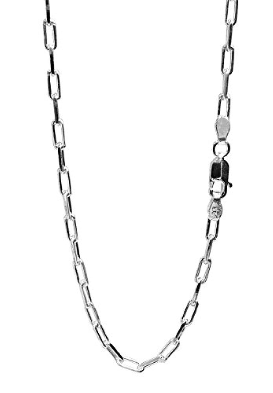 新宿銀の蔵 長あずきチェーン 2面カット 長さ40~60cm (40cm) 幅2.4mm シルバー 925 ネックレス チェーン ネックレスチェーン メンズ 人気